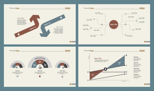 Четыре набора шаблонов слайдов google analytics