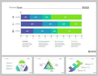 Four Analytics Slide Templates Set