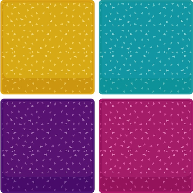 Four backgrounds with confetti