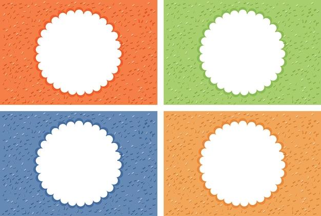 Четыре фона с круглой рамкой