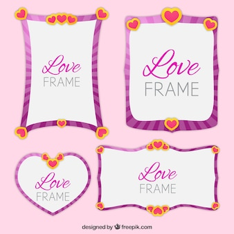 Four beautiful love frames