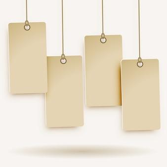 Four blank price tag