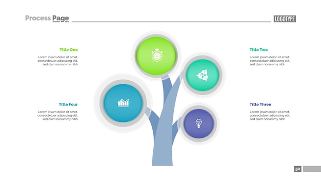 Four branches tree slide template
