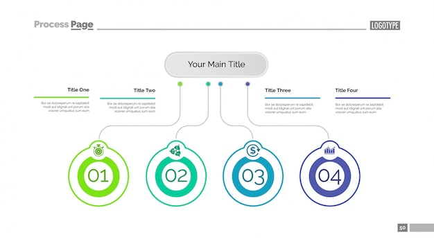 Four business ideas slide template
