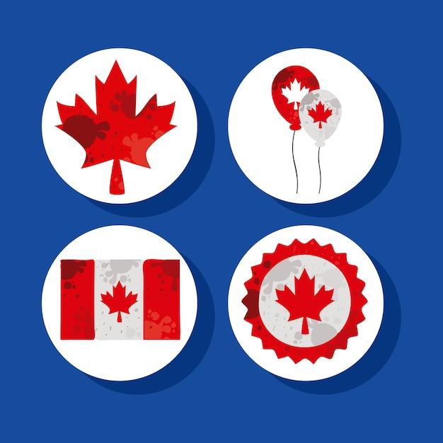 4 캐나다 하루 아이콘을 설정