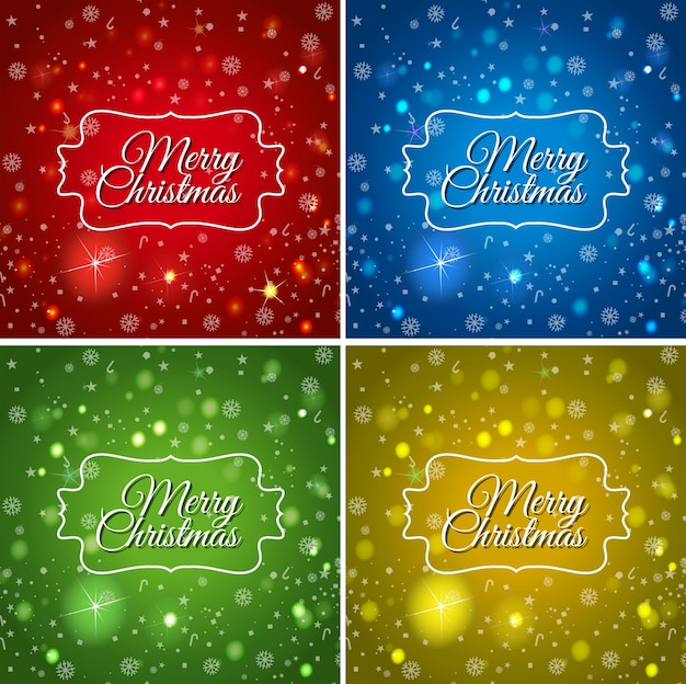 クリスマスのための4つのカードテンプレート