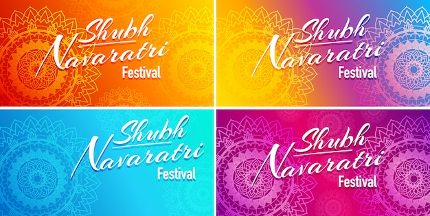 Four cards for navaratri festival