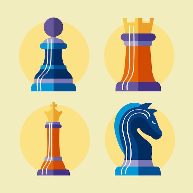 4つのチェスの駒