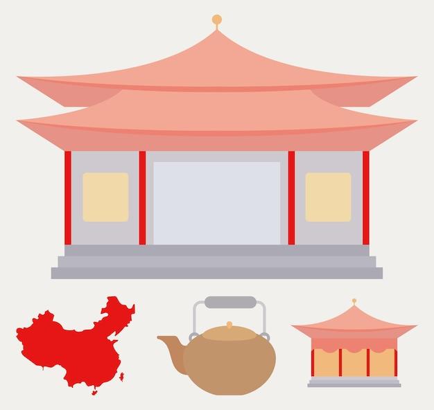 4 개의 중국 아이콘