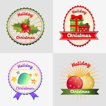 Four christmas badge