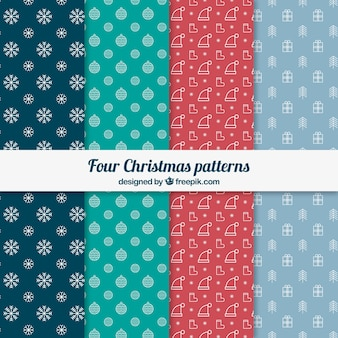 Four christmas patterns