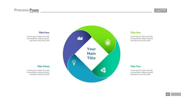 Four circle elements slide template