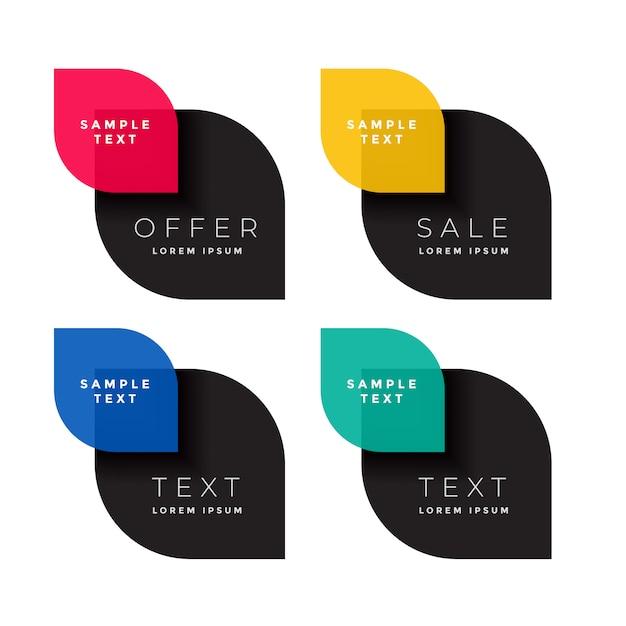 Free Four Color Sale Banner Set Vector Best Download Svg Vector Download Svg Converter