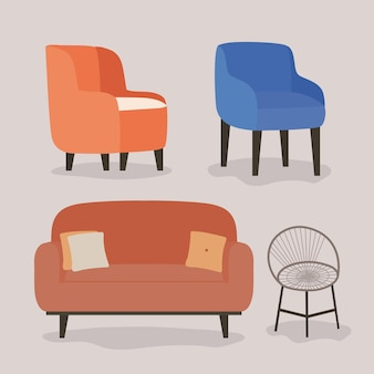 Четыре удобных мебели
