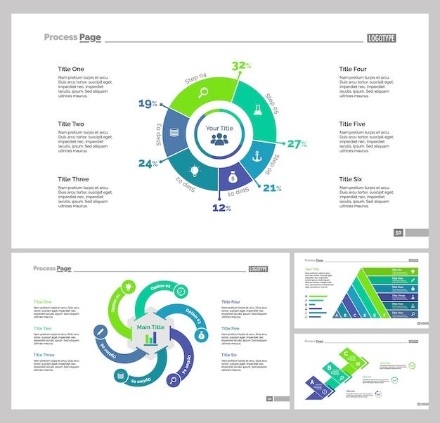 Set di modelli di diapositive di quattro istruzioni