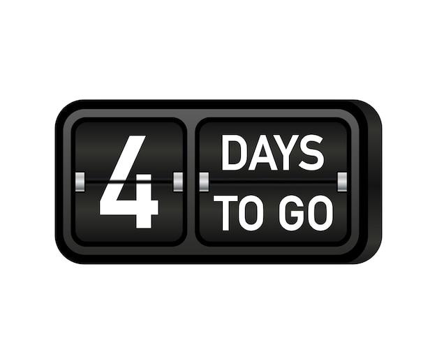 Four days to go clock, darck emblem banner
