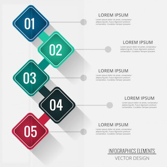 Four diamond-shaped options for infographics