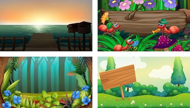 네 가지 자연 가로 장면