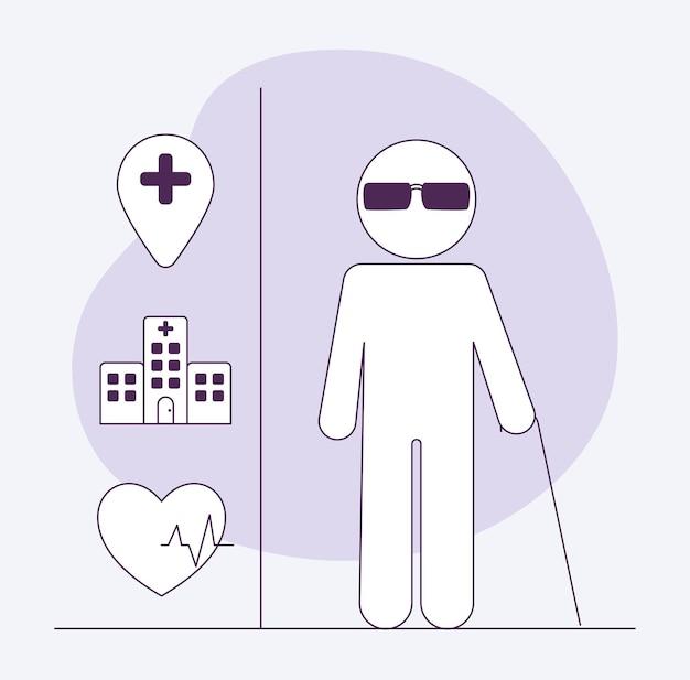 Четыре элемента с ограниченными возможностями для инвалидов