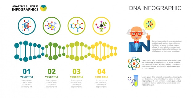 Four dna options slide template