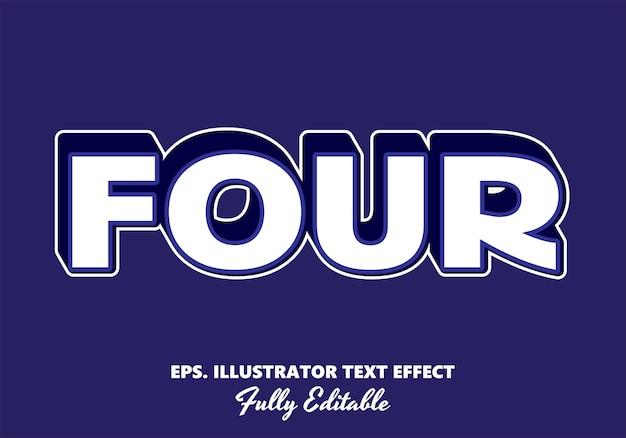 Four   editable text effect