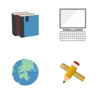 4 교육 아이콘