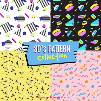 Four eighties patterns, full color