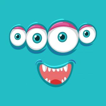 Four eyes monsater face