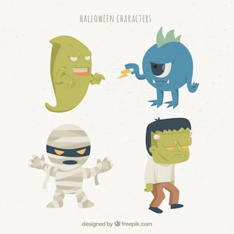 Four fearsome characters for halloween