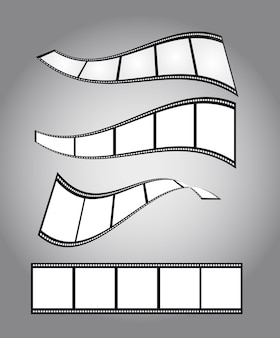 Four film countdown over silver background vector