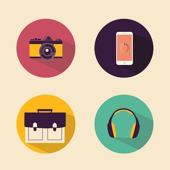 Four flat icons
