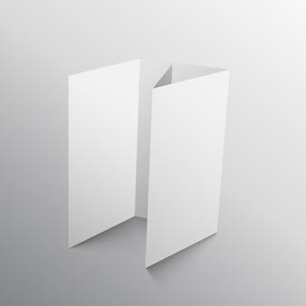 Four fold paper mockup design