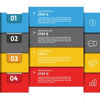 Four geometric banners with options for an infographic