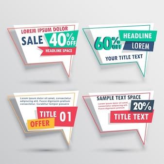 Ribassi e raccolta vendita banner