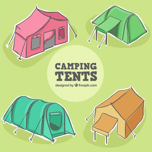 Четыре руки обращается палатки