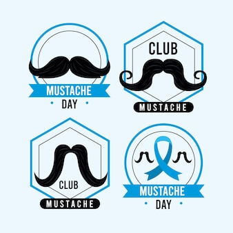 Four happy movember emblems