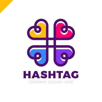 Four hearts social symbol