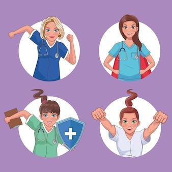 Four heros doctors