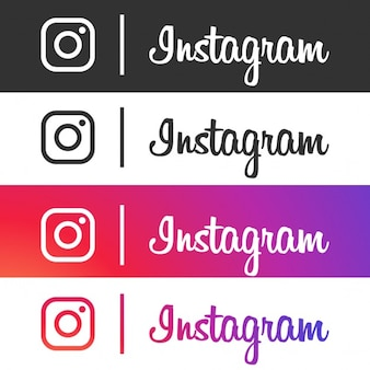 Four instagram icons