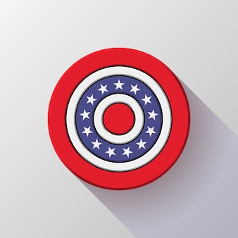 Four of july independence day badge