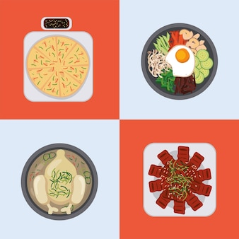 4 한국 음식 아이콘
