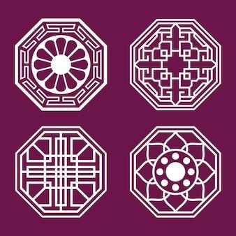 4つの韓国スタイルのパターンセット