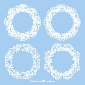 Four lace vintage frames