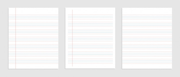 Four line english paper sheet of notebook
