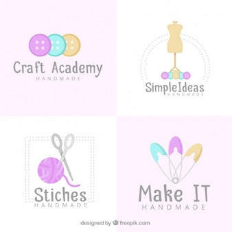 Four logos for crafts