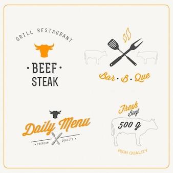 Четыре логотипы для ресторанов