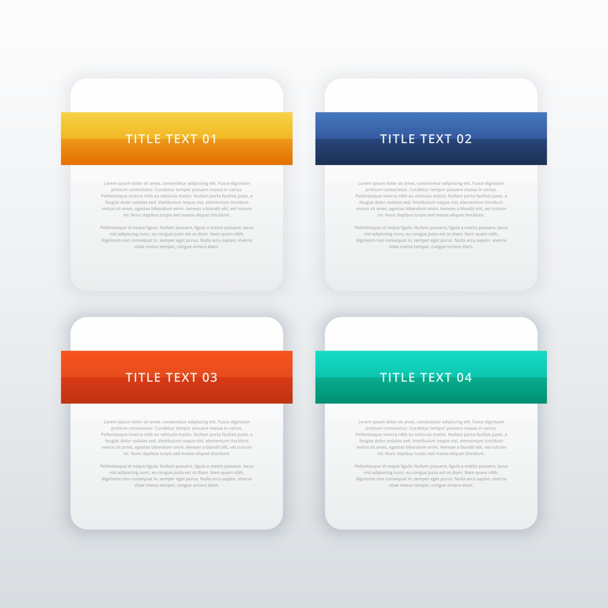 Four modern web banners or infographic template