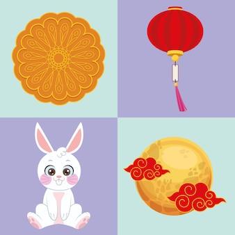 Четыре символа фестиваля луны