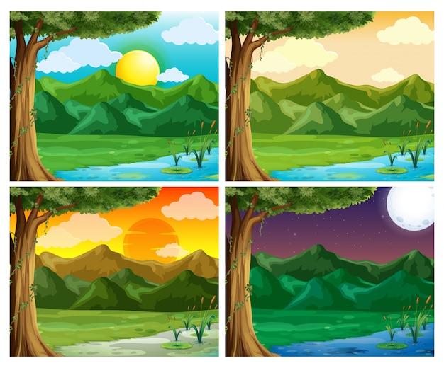 Четыре сцены природы в разное время суток