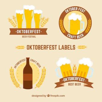 Four oktoberfest badges